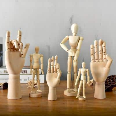 Movana Drottmovable Wooden Figure Decor 6 pcs / body+hand