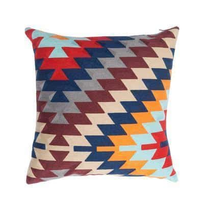Kilim Embroidery Aquarelle Cushion
