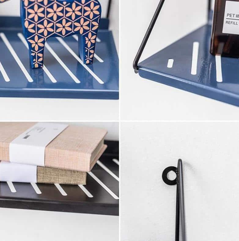 Industrial   Black Metal & Wire   Shields Shelf