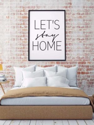 Home Sweet Home Inspirational Quotes   Unframed Canvas Art