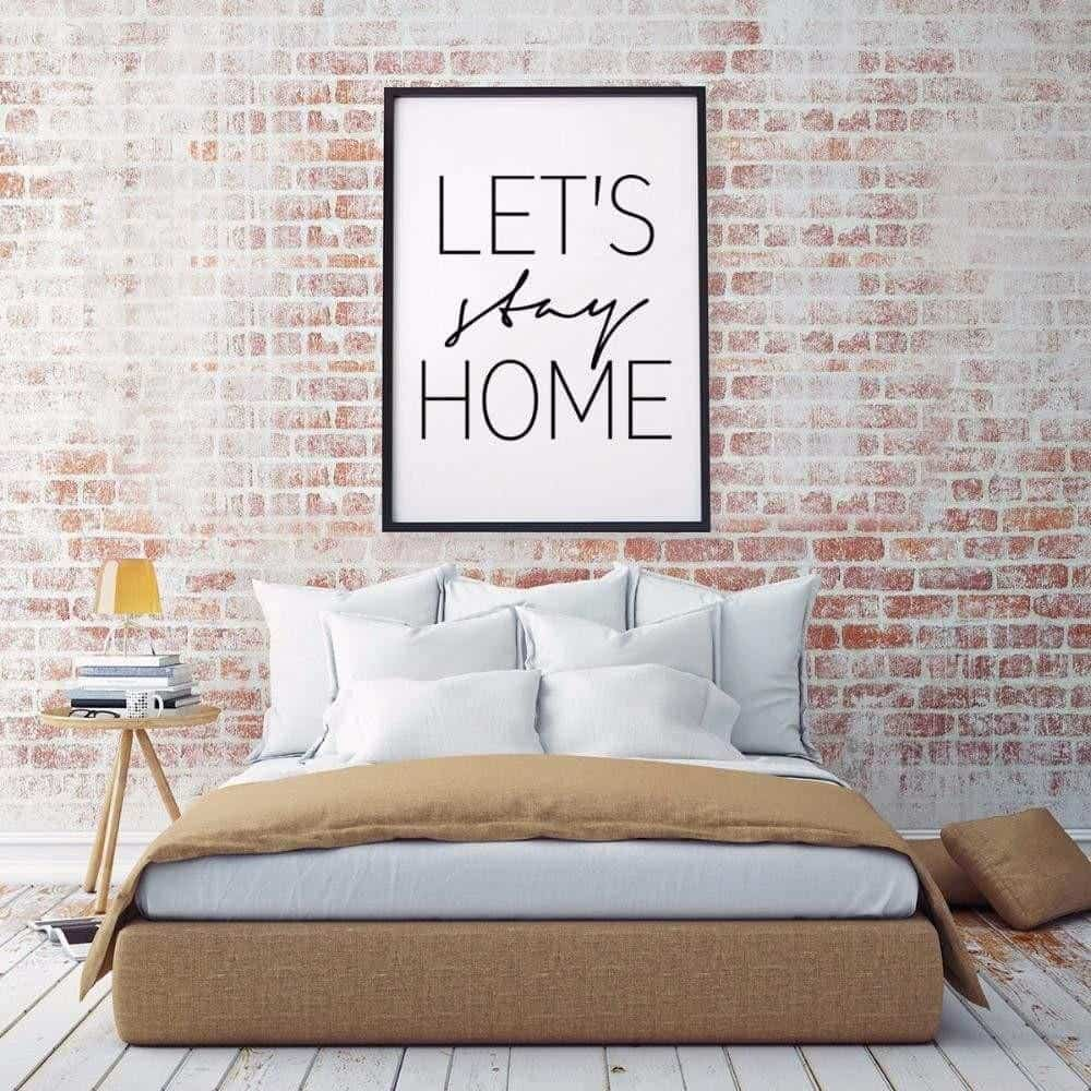 Home Sweet Home Inspirational Quotes | Unframed Canvas Art