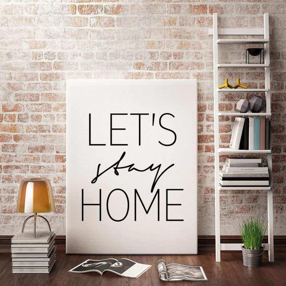 Home Sweet Home Canvas print - Wall Art 60x80cm