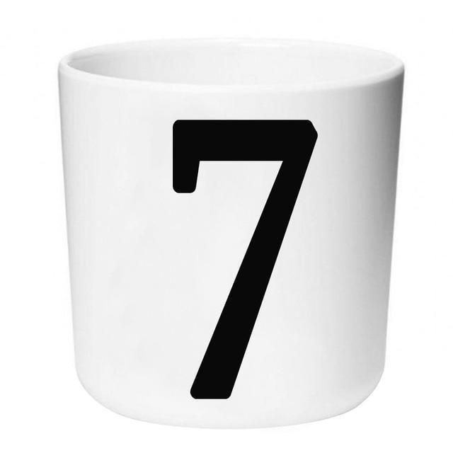 Letters by Una Hubmann Drinkware Number 7