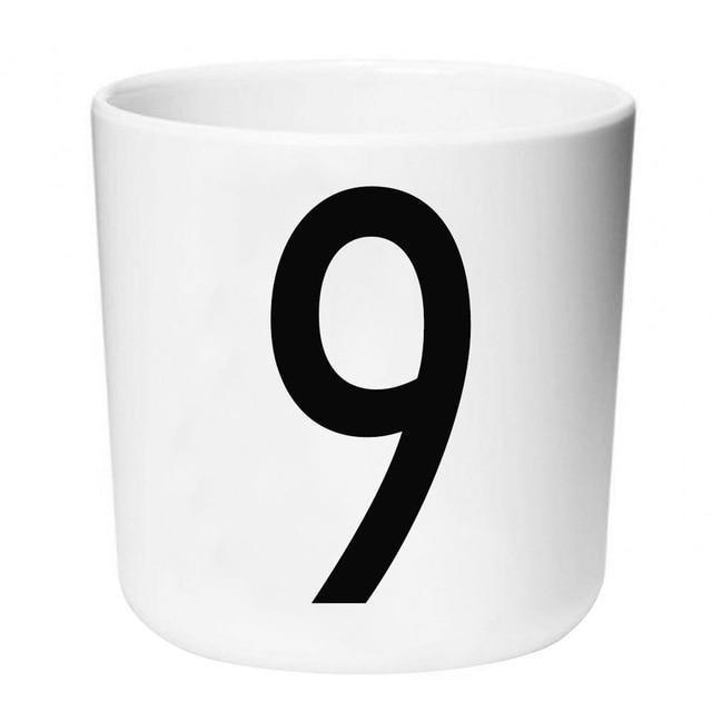Letters by Una Hubmann Drinkware Number 9
