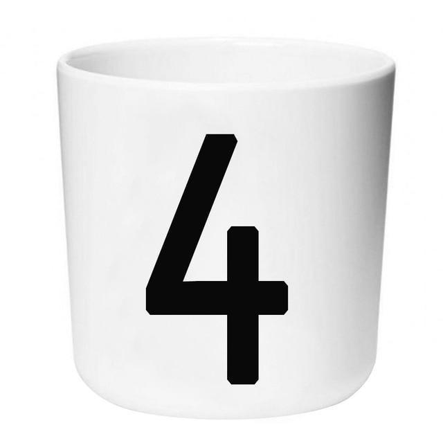 Letters by Una Hubmann Drinkware Number 4
