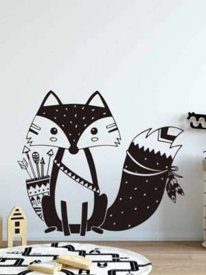 Lovely Fox by Hexa Kids Wall Decals