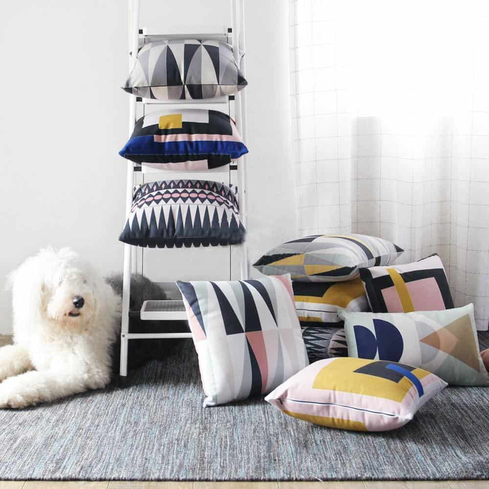 Complete Nordic Geometry   Celiné Printed Cushion Pillow