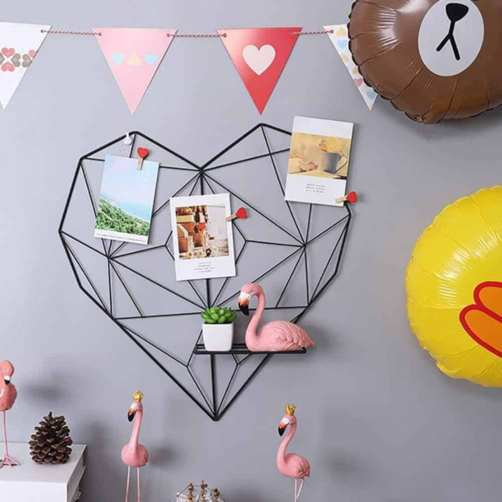Amorousness Lilly-May | Photo Wire Grid Frame | Heart Shaped Wire Display