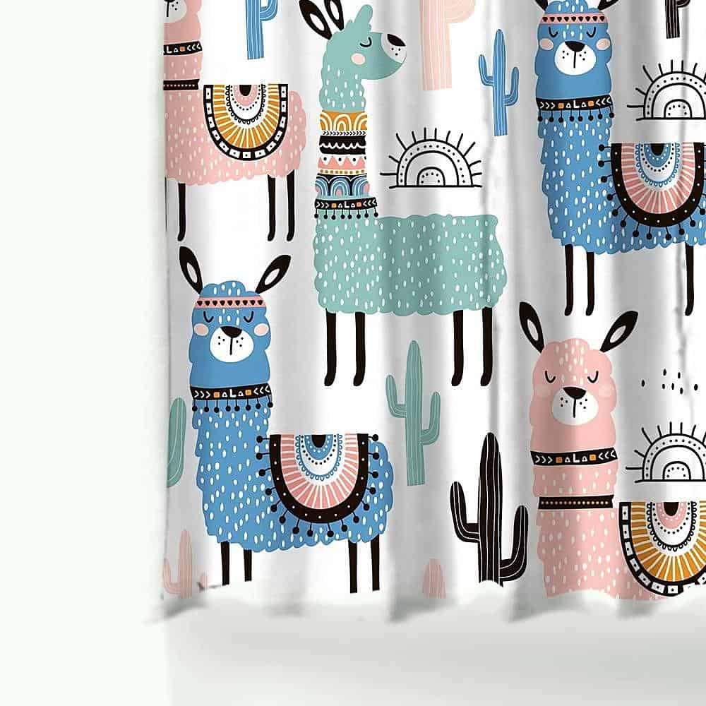 Funny Alpaca Shower Curtain unique and elegant Shower Curtain