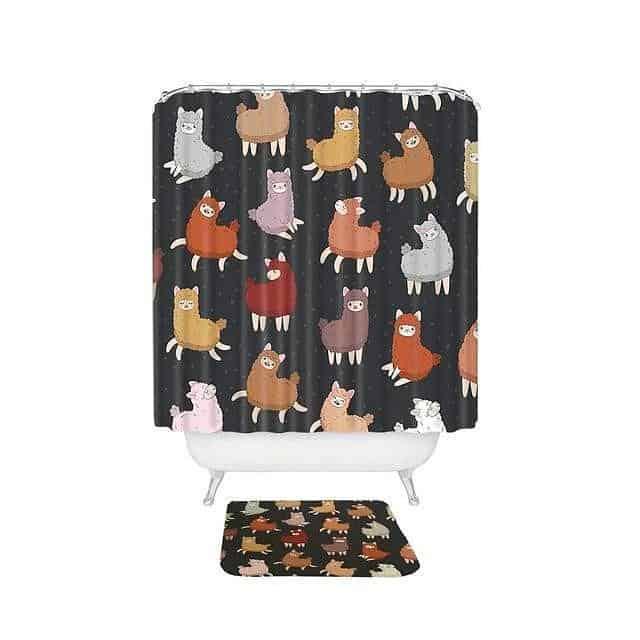 Funny Alpaca Shower Curtain