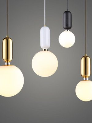 Milk Glass Globe | Mars Naked | Pendant Lighting