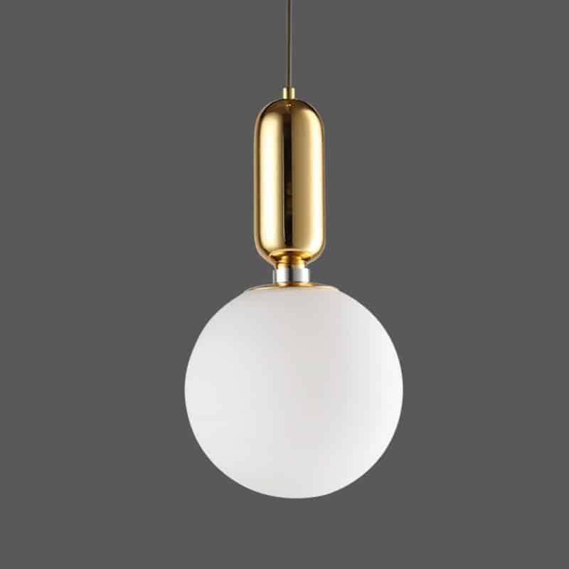 Milk Glass Globe   Mars Naked   Pendant Lighting