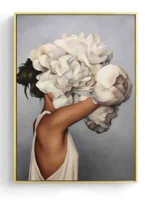 la Mission | Perfect Abstract Girl With Accessories | Unframed Canvas Art
