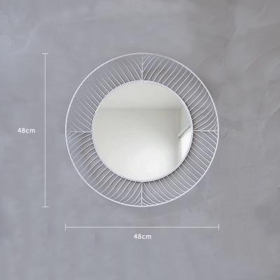 Elementary by Ann Sanderson Mirror Pure white / Ø48cm