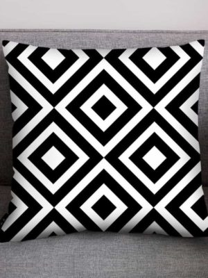 Mix Black White Pattern Celiné Cushion