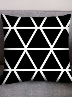 Mix Black White Pattern Celiné Cushion