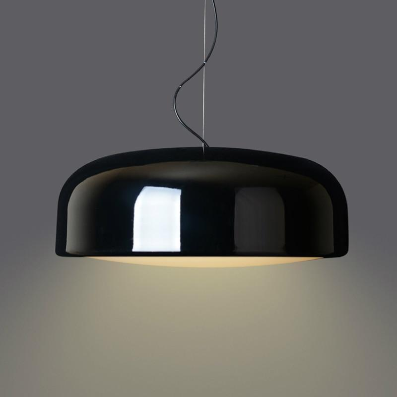 Möjligt Round Pendant Lighting Pendant lighting Glossy Black / Ø60cm / H23cm