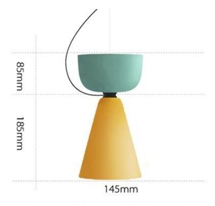 Ping Pong Pendant Lighting Pendant lighting Mint Yellow - Pipe