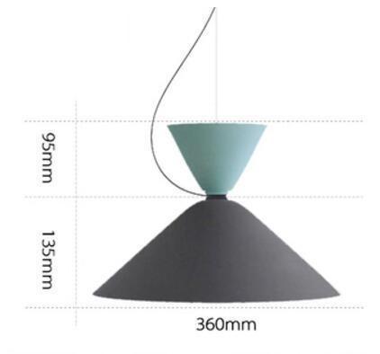 Ping Pong Pendant Lighting Pendant lighting Mint Gray - Wide