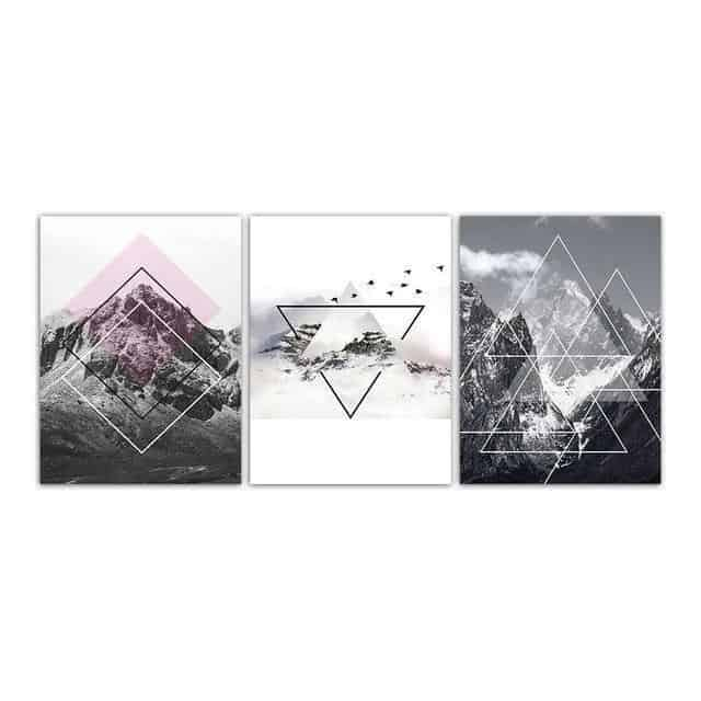 The Momument Canvas print - Wall Art 3pcs/set / 60x80cm