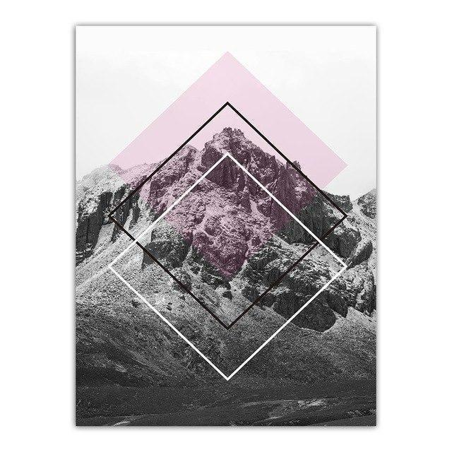 The Momument Canvas print - Wall Art At the top of the mountain / 60x80cm