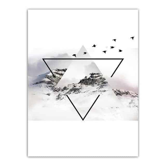 The Momument Canvas print - Wall Art Birds on the mountain / 60x80cm