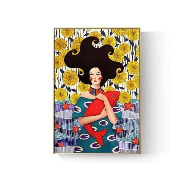 Romantic Girl Canvas print - Wall Art A / 80x120cm