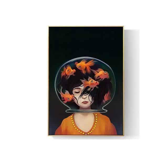 Romantic Girl Canvas print - Wall Art B / 80x120cm