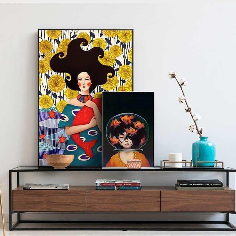 Romantic Girl Canvas print - Wall Art