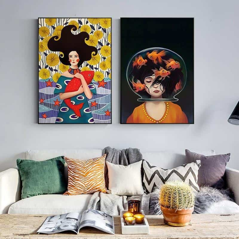 Romantic Girl | Life Is Beautifull And Magical | Unframed Canvas Art