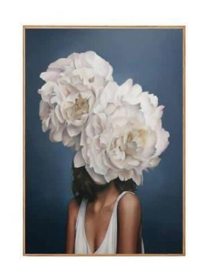 Merveille Impériale Girl With Fluffy Accessories | Unframed Canvas Art