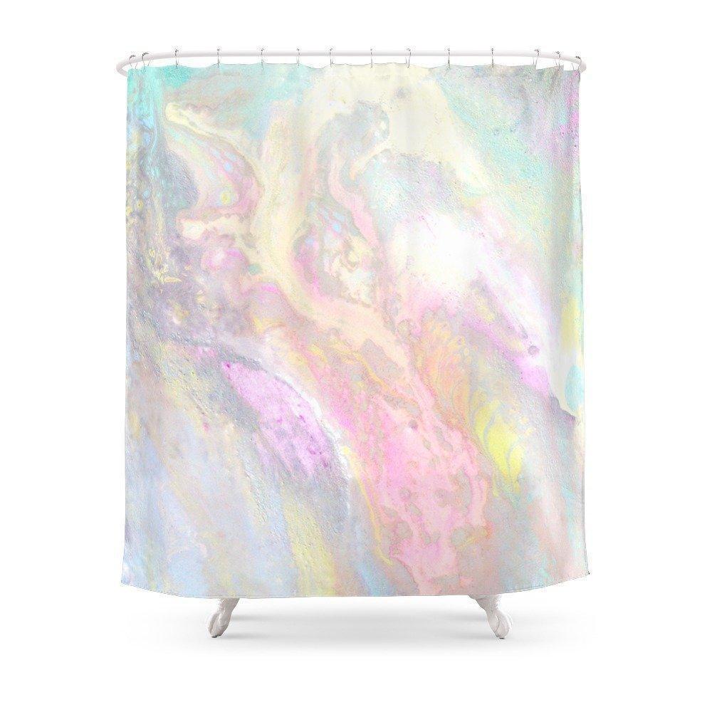 Slick Pastel Shower Curtain Shower curtain