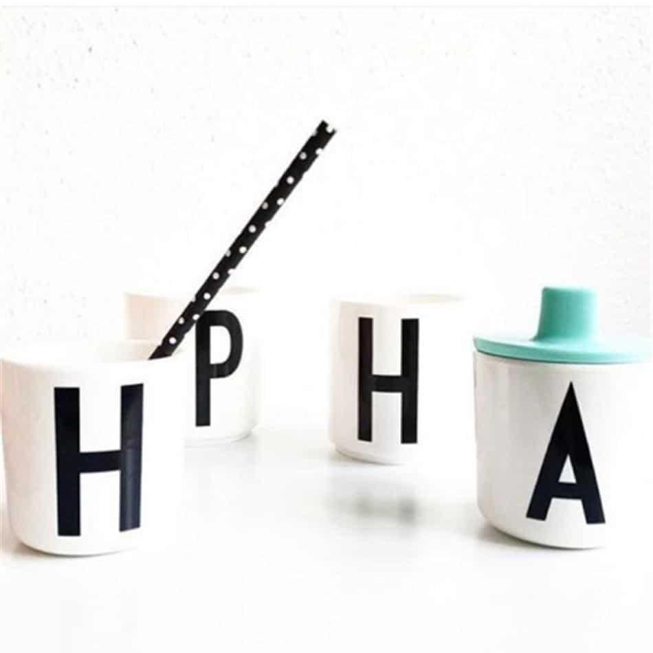 Letters by Una Hubmann Drinkware
