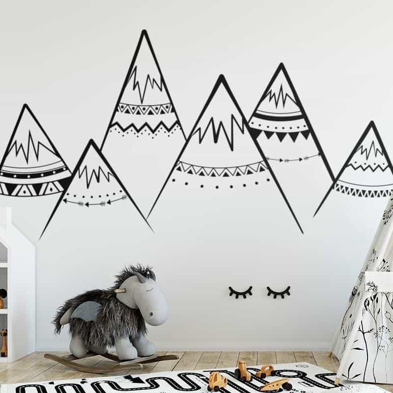 Mountains by Hexa Wall Sticker Black / 63x30 cm