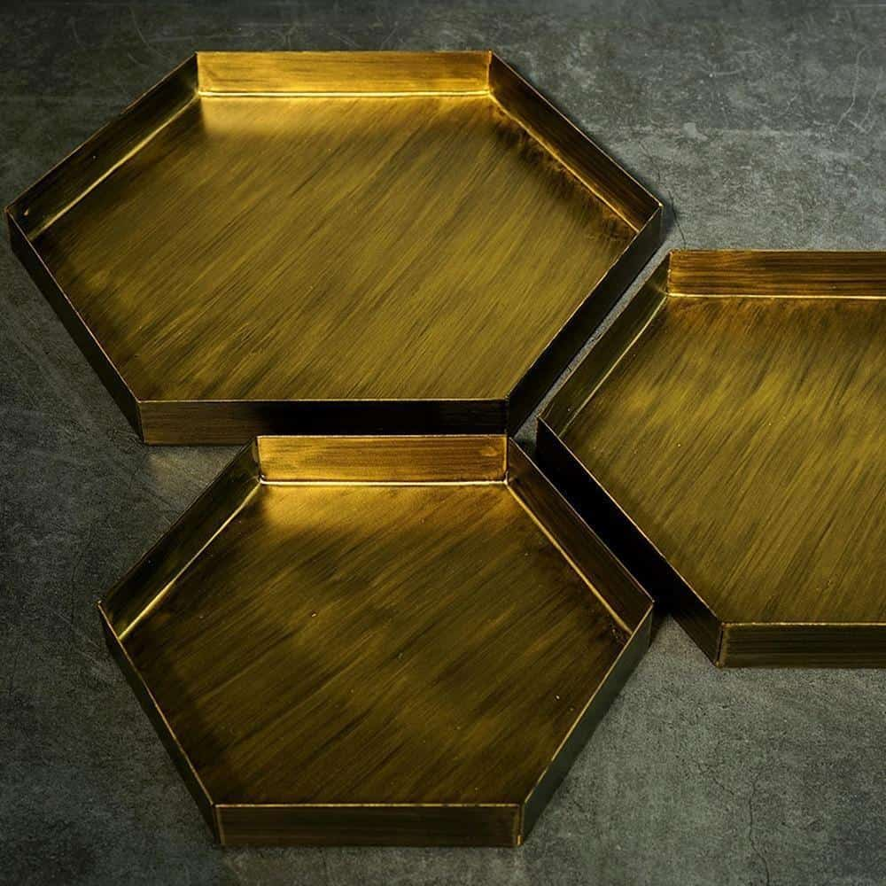Frederick Hexagon Tray unique and elegant Tray