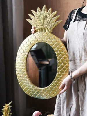 Diamond Gold Pineapple Mirror