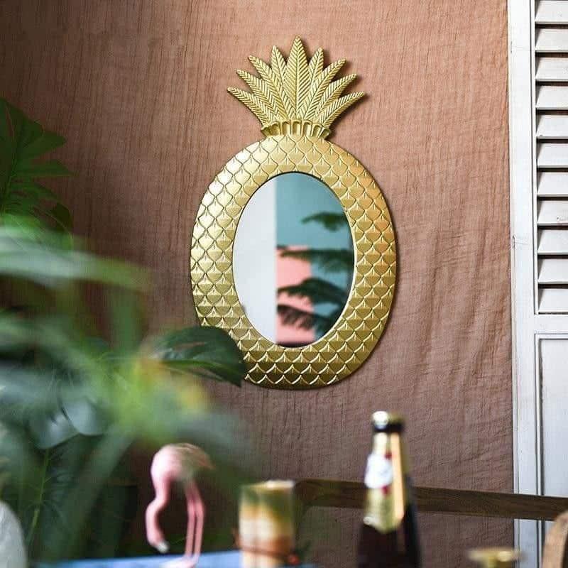 Diamond Gold Pineapple Mirror