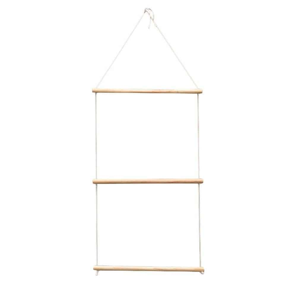 Simple Hanging Ladder | Wood Hanging Swing Rope