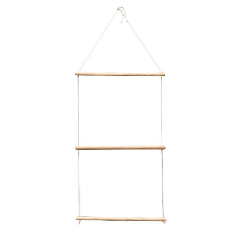 Simple Hanging Ladder | Wood Hanging Swing Rope