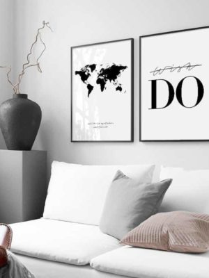 Travel around the world | Unframed Canvas Art