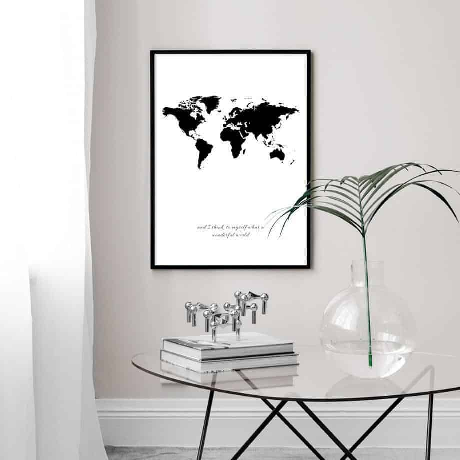 Travel around the world | Unframed Canvas Art unique and elegant Canvas print - Wall Art A / 60X100cm