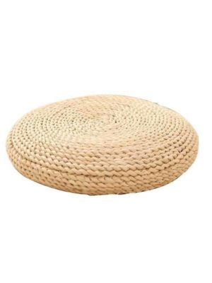 Bright Valley Floor Pillow Woven Grass / Juta Pouf