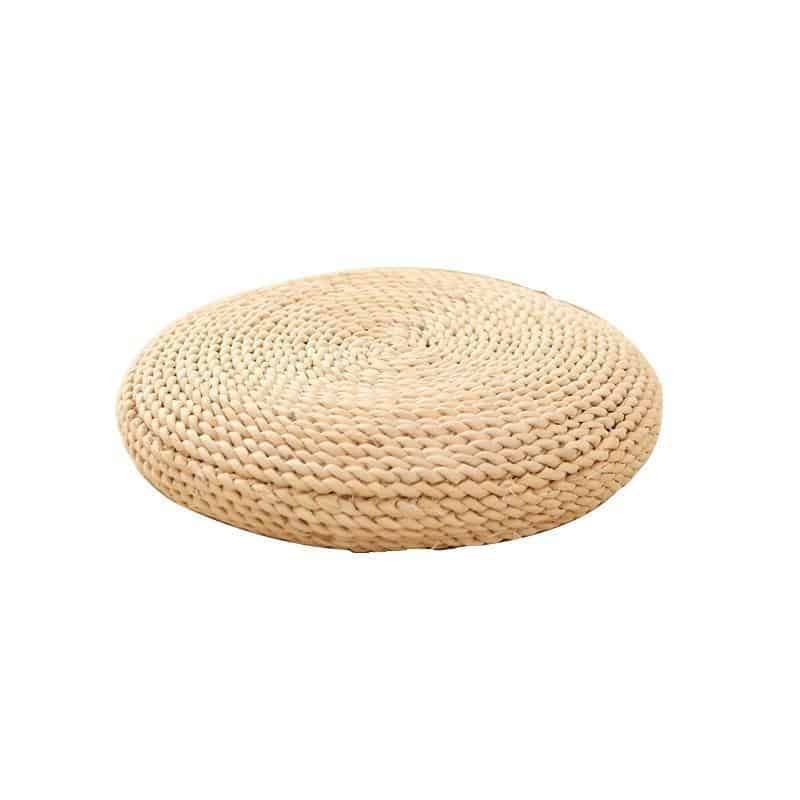 Bright Valley Floor Pillow Woven Grass / Juta Pouf Pillow Ø50cm