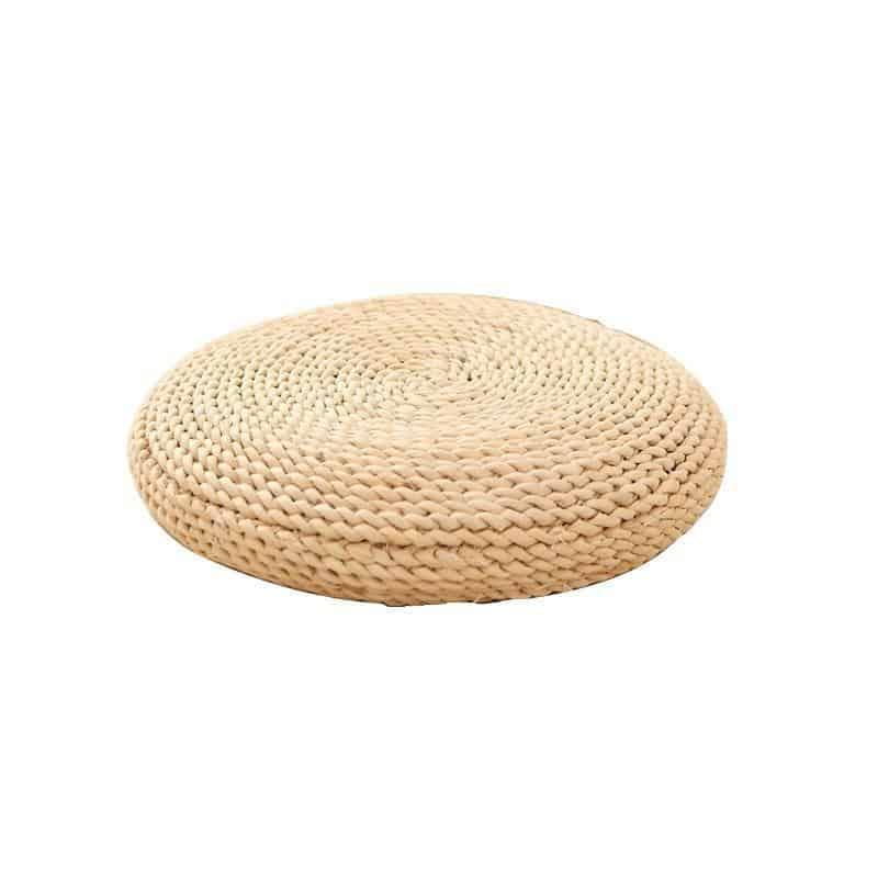 Bright Valley Floor Pillow Woven Grass / Juta Pouf Pillow Ø50cm