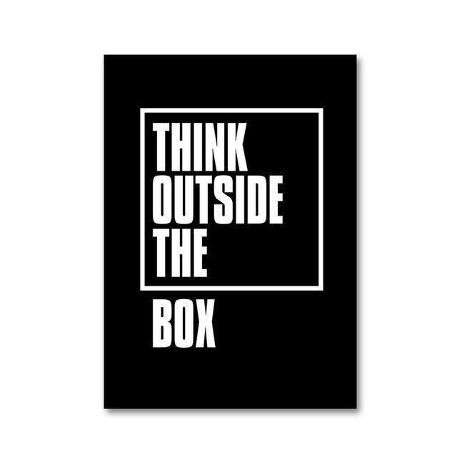 A Heroic Thinker | Think Outside The Box | Unframed Canvas Art unique and elegant Canvas print - Wall Art 60X100cm