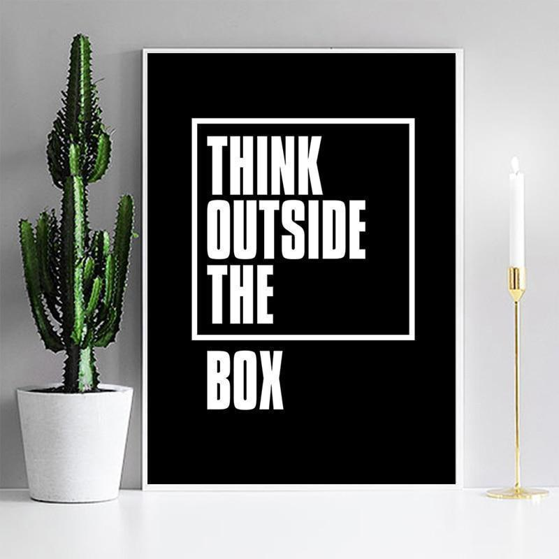 A Heroic Thinker | Think Outside The Box | Unframed Canvas Art