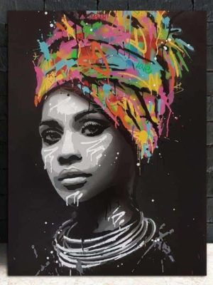 African Woman | Girl With An Attitude | Unframed Canvas Art