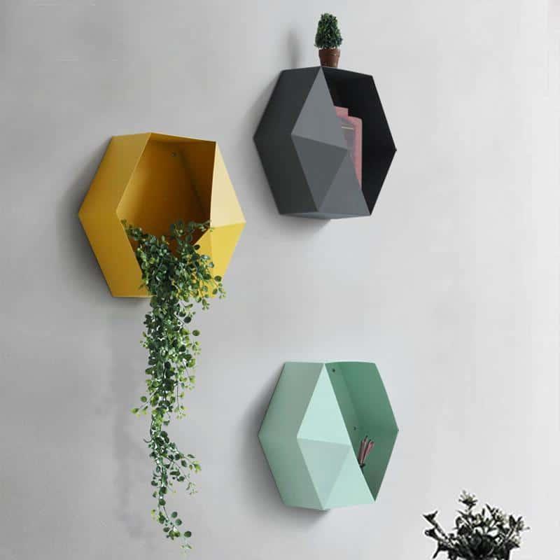 Hexa Reward | Metal Hexagonal Shelf | by Valéry