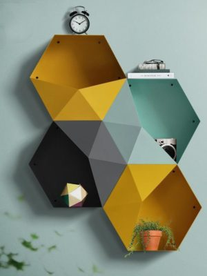 Hexa Reward | Metal Hexagonal Shelf | by Valéry