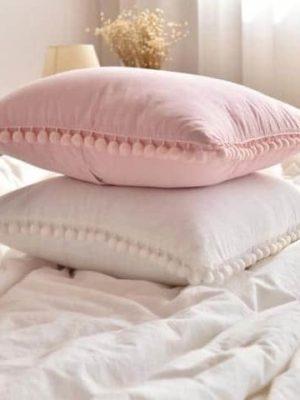 Extravagant POM POM Throw Cushion   Celiné